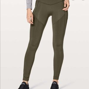 """28"""" Lululemon All The Right Places Pant Dark Green"""